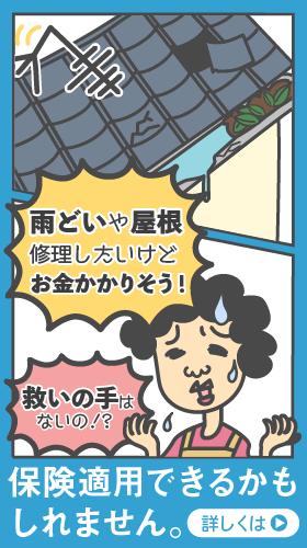 雨どいや屋根、修理したいけどお金かかりそう!・・・保険適用できるかもしれません。
