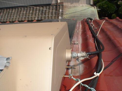 配線に異常がある太陽熱温水器