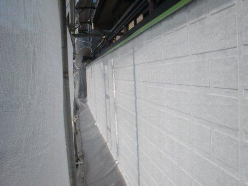 塗装し終わった外壁の様子