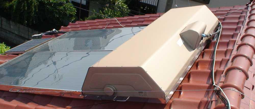 太陽熱温水器のメンテナンス