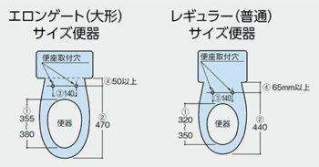 トイレのサイズ