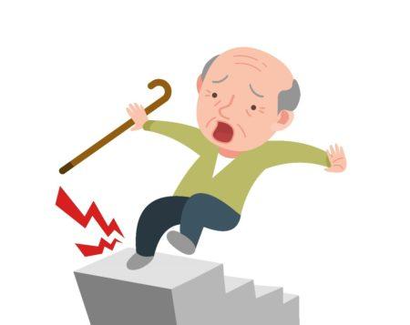 転倒する老人
