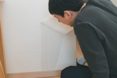 壁紙を見る男性