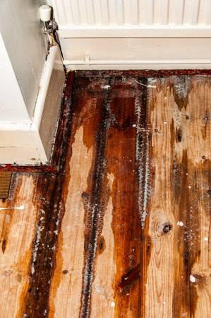 腐食した床