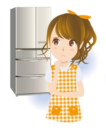 冷蔵庫と女性イラスト