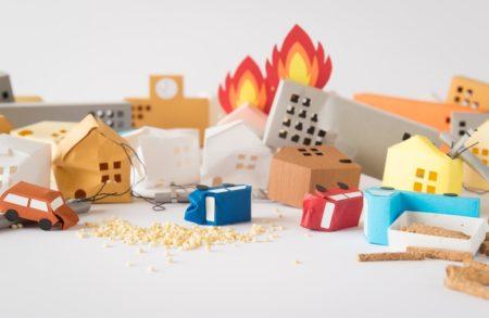 火災イメージ 模型