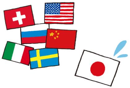 各国と日本