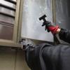 窓の防犯フィルム貼り