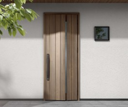 片開きドア