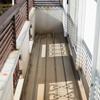 ベランダの床ヒビ割れ補修