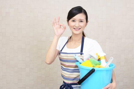 掃除準備 女性