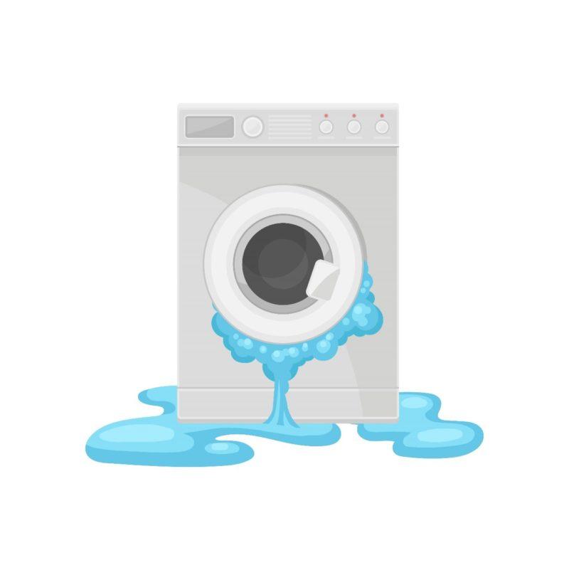 洗濯機水漏れ イラスト