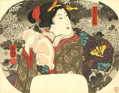 浮世絵 猫 団扇