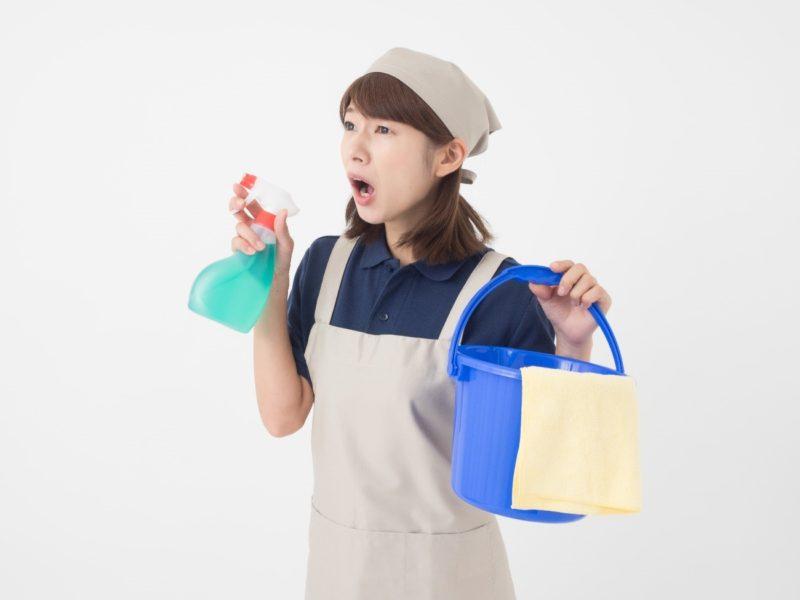 掃除で困る女性