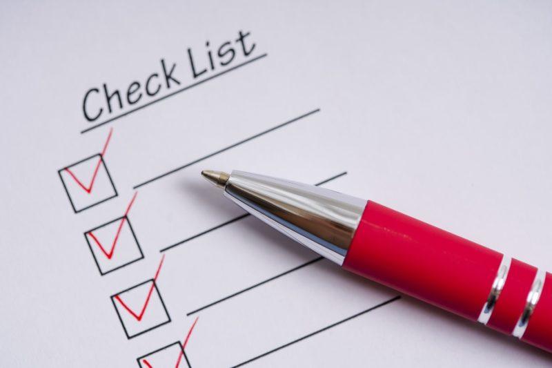 赤ペン チェックリスト