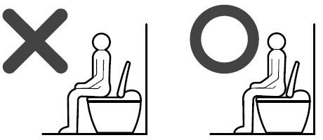 便座の座り方