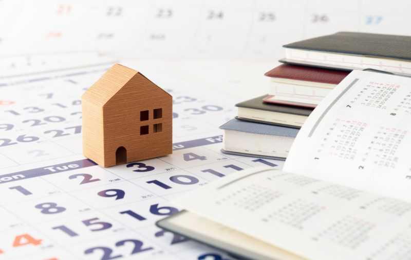 家とカレンダーとスケジュール帳