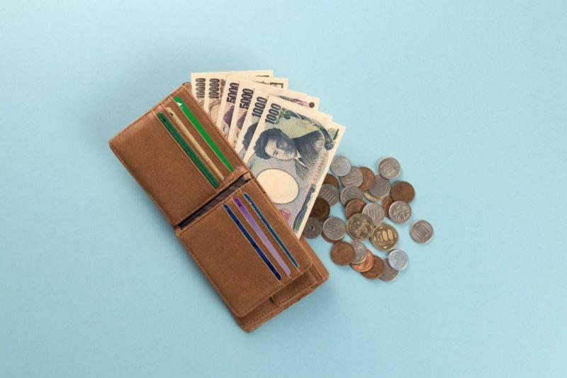財布と小銭と3万2千円
