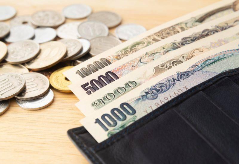 財布と札と小銭