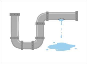 水漏れする排水管