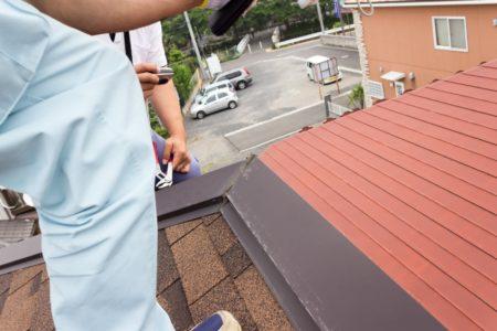 屋根で目視調査